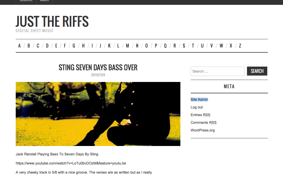 Just The Riffs Digital Sheet Music